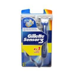 Gillette Sensor 3 Maquinilla completa x5 Recambios