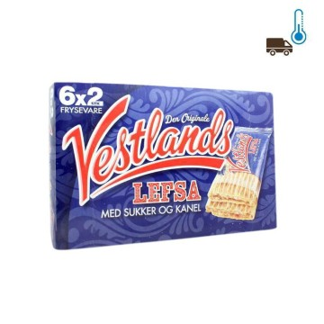 Vestlands Lefsa 6x2 400g/ Pastries with Sugar and Cinnamon