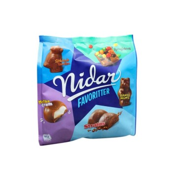 Nidar Favoritter 300g/ Chocolate Bars Mix