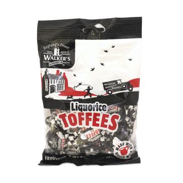Walker's Liquorice Toffees 150g/ Caramelos de Regaliz