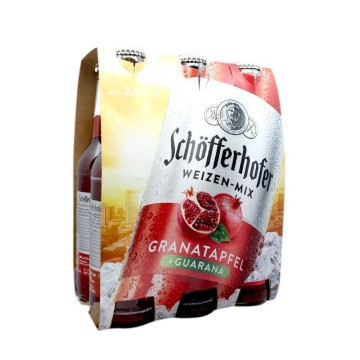 Schöfferhofer Granatapfle & Guarana 6x33cl/ Bebida Granada & Guaraná