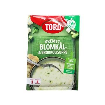 Toro Kremet Blomkålsuppe & Brokkolisuppe / Sopa Cremosa de Coliflor y Brócoli 65g