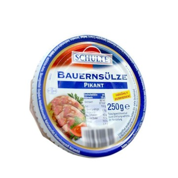 Schulte Bauernsülze Pikant / Cabeza de Cerdo Picante 250g