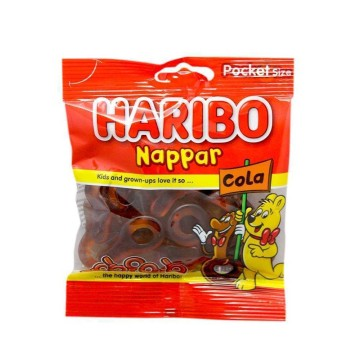 Haribo Nappar Cola 80g/ Golosinas Cola