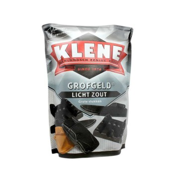 Klene Grofgel Licht Zout 250g/ Lighty Salted Licorice