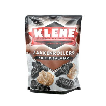 Klene Zakkenrollers Zout & Salmiak 250g/ Salty Licorice