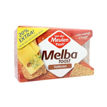 Van der Meulen Melba Toast Volkoren 120g/ Whole Grain Toasts