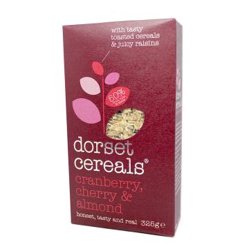 Dorset Cereals Cranberry, Cherry & Almond 325g/ Cereales Grosellas, Cerezas y Almendras