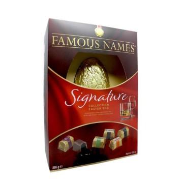 Famous Names Signature Collection Easter Egg 265g/ Huevo Chocolate con Bombones de Licor