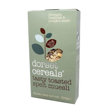 Dorset Cereals Toasted Spelt Muesli 325g/ Cereales Espelta con Frutos y Semillas