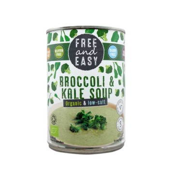Free&Easy Organic Broccoli Kale Soup / Sopa Orgánica de Brócoli y Col Rizada 400g