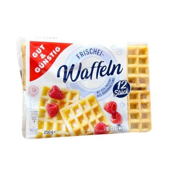 Gut&Günstig Frischei Waffeln 250g/ Waffles