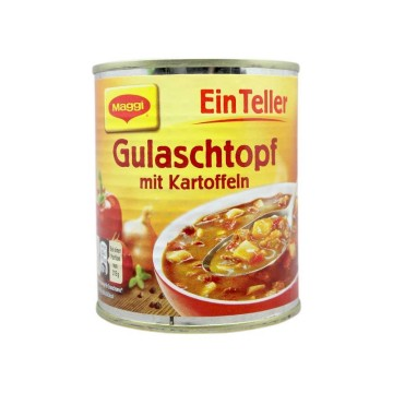 Maggi Ein Teller Gulaschtopf mit Kartoffeln 320g/ Estofado Carne con Patatas