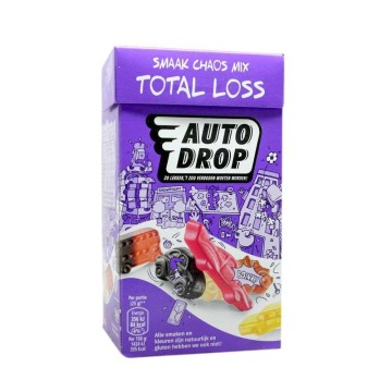 Autodrop Total Loss Smaak Chaos Mix 220g/ Fruit&Licorice Candies