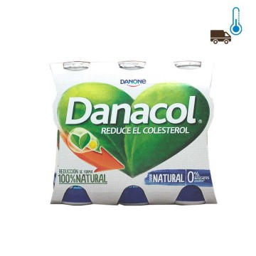 Danone Danacol Beber Natural 6/ Drinkable Yogurt for Colesterol