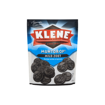 Klene Muntdrop Mild Zoet 260G/ Licorice Candies
