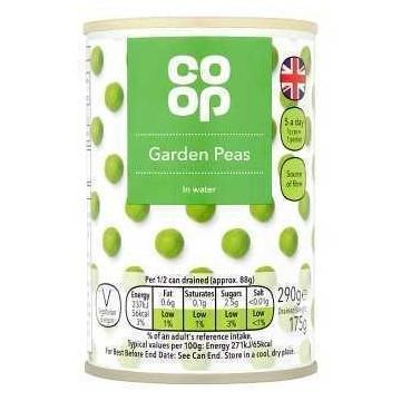 Heritage Garden Peas in Water 300g/ Guisantes verdes