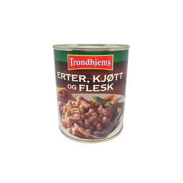 Trondhjems Erter, Kjøtt Og Flesk 870g/ Estofado de Guisantes y Carne