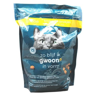 Gwoon Senior Krokante Brokjes Kip 800g/ Chicken Cat Food