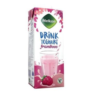 Melkan Drink Yoghurt Framboos 1L/ Yogur De Frambuesa