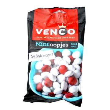 Venco Mintnopjes Zout 170g/ Mint Liquorice Dragees