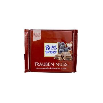 Ritter Sport Trauben Nuss 100g/ Chocolate Sultanas y Avellanas