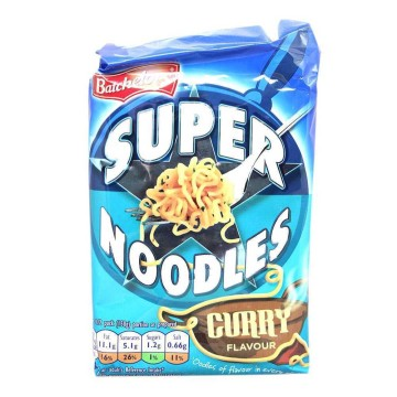 Batchelor's Super Noodles Curry 100g/ Fideos Instantáneos sabor Curry
