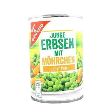 Gut&Günstig Junge Erbsen mit Möhrchen 400g/ Guisantes y Zanahorias