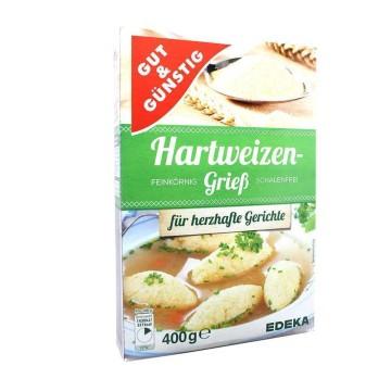 Gut&Günstig Hartweizengrieß 400g/ Sémola de Trigo