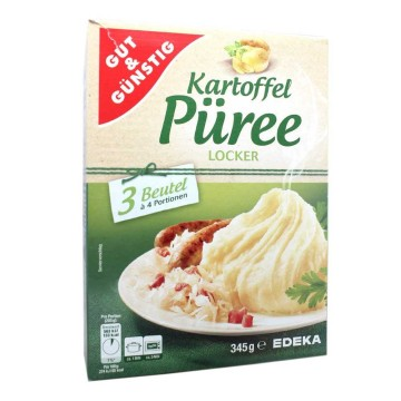 Gut&Günstig Kartoffel Püree Locker x3 345g/ Mashed Potatoes
