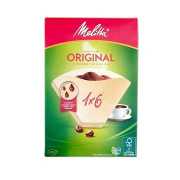 Melitta Coffee Filters 1x6 40Un/ Filtros Café