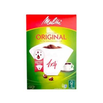 Melitta Coffee Filters 1x4 40U/ Filtros Café