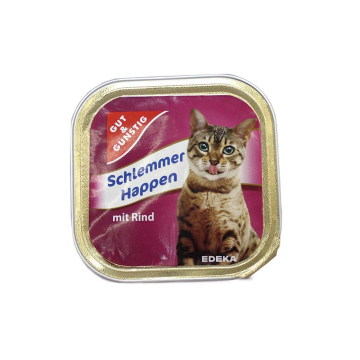 Gut&Günstig Schlemmer Happen Rind 100g/ Cat Food Beef