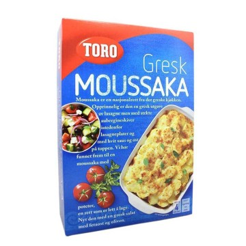 Toro Gresk Mousakka 136g/ Mix para Lasaña Griega