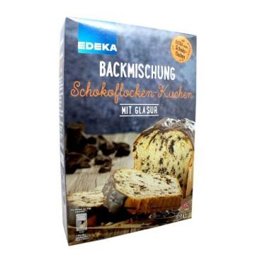 Edeka Backmischung Schokoflocken-Kuchen mit Glasur 510g/ Mezcla para Bizcocho