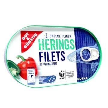 Gut&Günstig Heringsfilets in Paprikacreme / Filetes de Arenque en Crema de Pimentón 200g