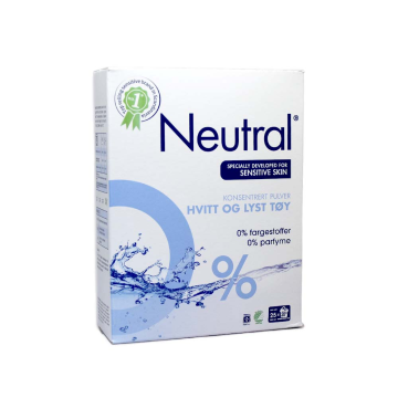 Neutral Konsentrert Pulver Hvitt Og Lyst Tøy 920g/ Laundry Powder Without Parabens
