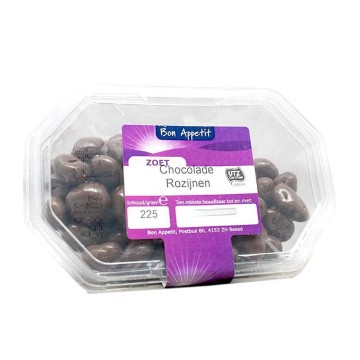 Bon Appetit Chocolade Rozijnen 225g/ Chocolate Raisins