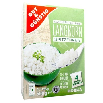 Gut&Günstig Kochbeutel-Langkorn-Reis 4x125g/ Long Rice