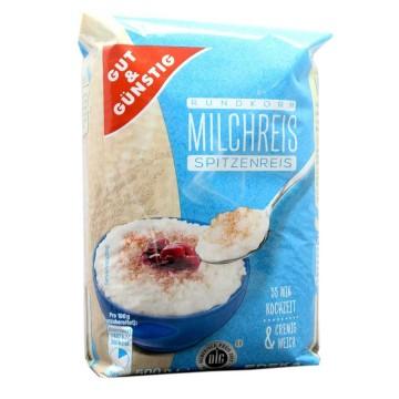 Gut&Günstig Rundkorn Milchreis Spitzenreis 500g/ Rice Pudding Rice