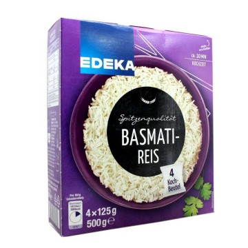 Edeka Basmatireis 4x125g/ Rice in Cooking Bag