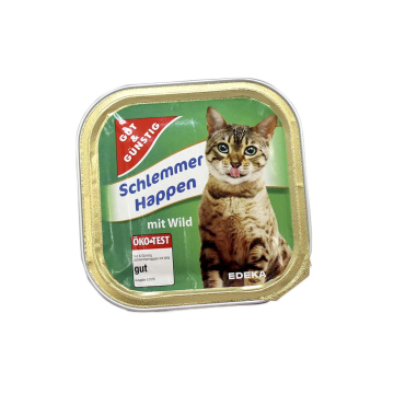 Gut&Günstig Schlemmer Happen Wild 100g/ Cat Food Wild Meat