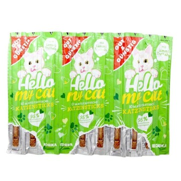 Gut&Günstig Hello My Cat Lamm&Trutham Katzensticks x10/ Cat Treat Sticks Lamb&Turkey