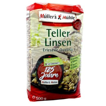 Müller's&Mühle Teller Linsen 500g/ Lentejas