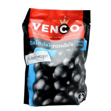 Venco Salmiakrondo's 260g/ Salted Licorice Balls