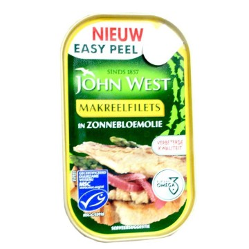 John West Makeerelfilets met Zonnebloemolie 85g/ Mackerel in Sunflower Oil