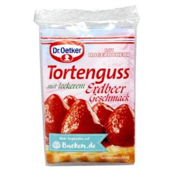 Dr.Oetker Ungezuckert Tortenguss Erdbeer Geschmack 12,5g x3/ Glaseado Rojo sabor Fresa