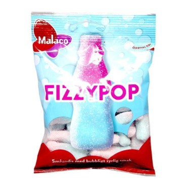 Malaco Fizzypop 80g/ Bubble Gum Candies
