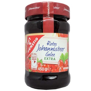 Gut&Günstig Rotes Johannisbeer Gelee Extra 450g/ Red Currant Jelly