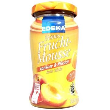 Edeka Feines Fruchtmousse Aprikose&Pfirsich 300g/ Mermelada Suave Albaricoque y Melocotón